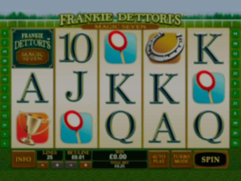 Frankie Dettoris Magic Seven Slot