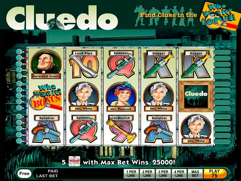Cluedo Slot Machine Online